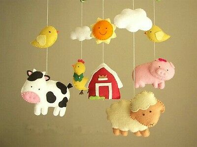 Baby Mobile Cot Crib nursery decor handmade - Farm animals