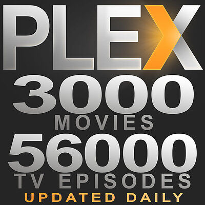 Reliable Month Plex VOD TV & Movies 2900 Movies 50000 TV Updated Daily On Demand