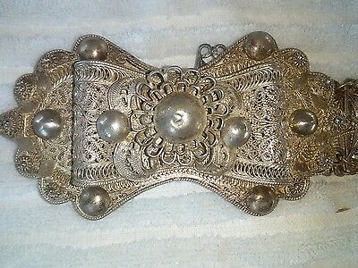 silver filigree ottoman turkish belt