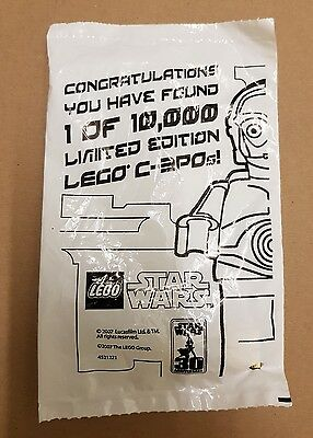 LEGO star wars gold chrome C-3PO minifgure - new sealed minifig