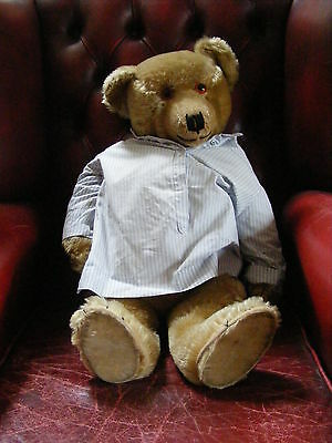 Antique Rare Large Teddy Bear 69cms Terry Chiltern Fully Jointed Mohair 'Smiler'