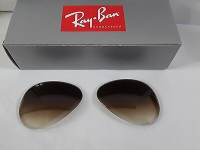 Ray ban RB3025 aviator Grad brown sunglasses lenses size 62