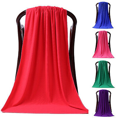 80 X 180Cm Large Absorbent Microfiber Drying Beach Bath Towel Sheet Hospitable