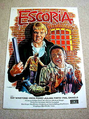 SCUM Original BORSTAL CRIME Movie Poster RAY WINSTONE PHIL DANIELS MICK FORD