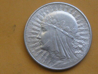 Poland Old Silver Beautiful Coin 10 zlotych 1932 ! Queen Jadwiga