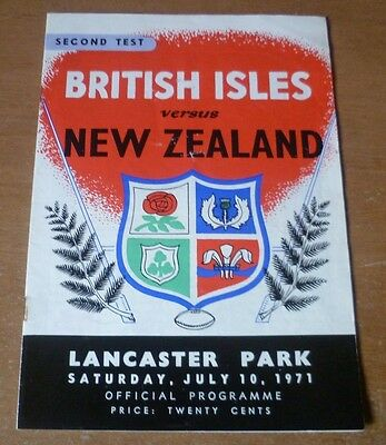 1971 - New Zealand v British Lions, 2nd Test Match Programme.