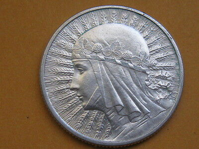 Poland Old Silver Beautiful Coin 2 zlote 1934 !! Queen Jadwiga