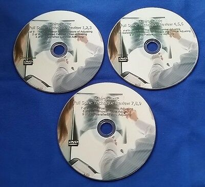 Chiropractic Full Spine & Extremity DVDs (6 DVDs 2CDs) SUPER 1 DAY SALE
