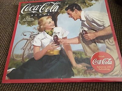 2004 Coca Cola Brand 16 Month Wall Calendar Brand New Sealed Never Opened