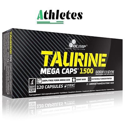 Olimp Taurine 1500mg 30-240 Mega Caps Amino Acids Energy Strength Booster