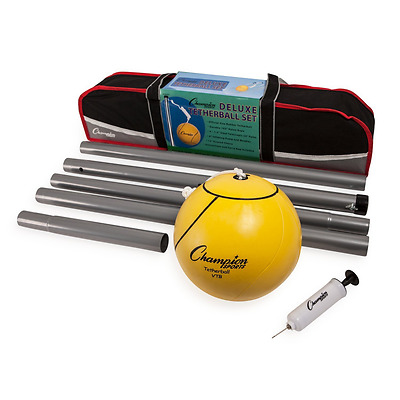 Champion Sports Portable Tetherball Set: Classic Backyard Lawn Beach and Pool Pa