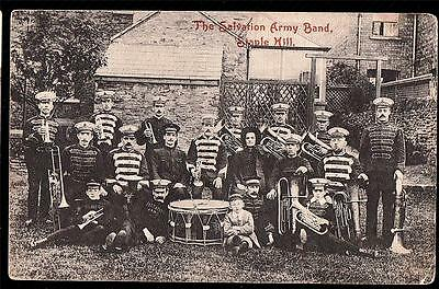 Bristol. Staplehill.the Salvation Army Band  .printed Postcard.p.used1908