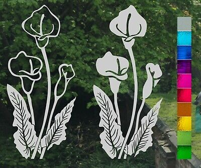 Primrose Flower Frost Etch Stained Glass Patio Window Greenhouse Sticker Decal