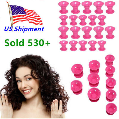 Girl Women Silicone Hair Curls Hair Salon Magic Curlers Roller Styling