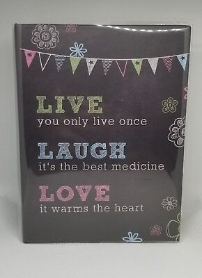 100 Book Bound Picture Photo Album (Live, Laugh, Love)