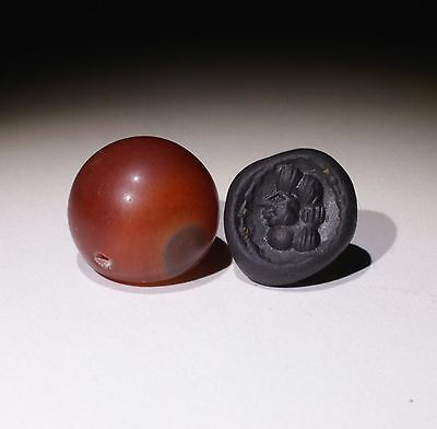 Superb Ancient Carved Agate Seal - Circa 500Bc  - No Reserve 675