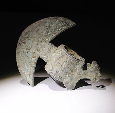 Smaller Ancient Bronze Axe Zoomorphic 200Bc To 200Ad  - No Reserve!