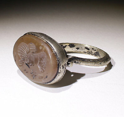 Nice Post Medieval Silver Seal Ring - No Reserve! 0221