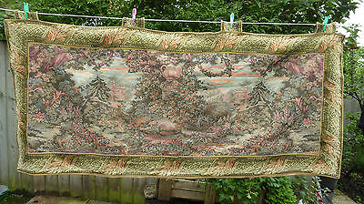 Antique Vintage French Tapestery Wall Hanging Italian Landscape 200cm XXL Huge