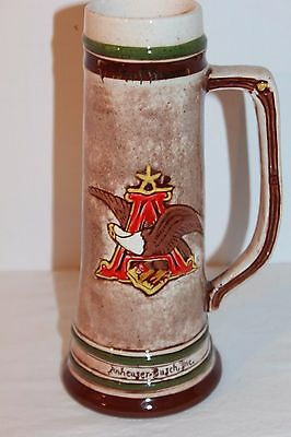 Anheuser Busch Stein Employee Green Cross Safety Safe Service 5 Years 1983 Excon