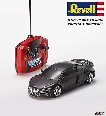 Revell 24654 Radio Control Rc Scale Car AUDI R8 Nero Opaco With Light 1/24 Rtr
