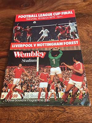 Liverpool V Nottingham Forest 1978 League Cup Final Programme Free Postage Look