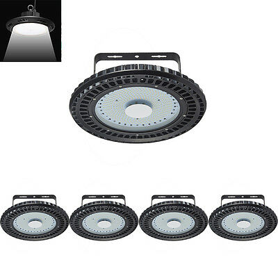 5X 250W LED High Bay Light UFO Cool White Commercial Industrial Lamp Warehouse