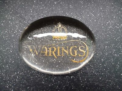 Rare Waring And Gillows Glass Paperweight