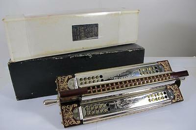 Rare Antique Amazing M. Hohner's Best Hammered Reeds 4 Four Sided C,d,f,g