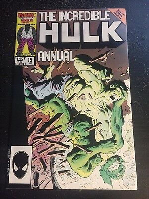 Incredible Hulk Annual#15 Incredible Condition 9.0 Abomination Battle(1986)