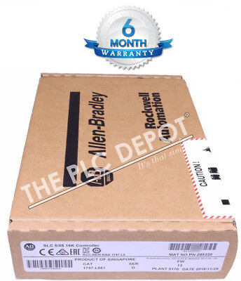 **FREE OVER-NIGHT SHIPPING** SEALED! Allen Bradley 1747-L551 Series D 2016-2017