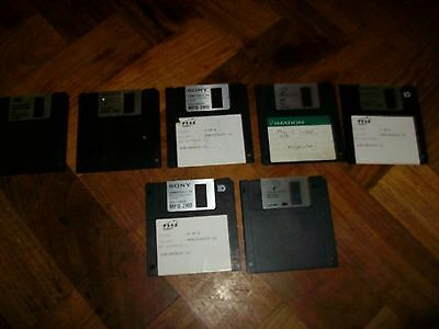 "7 x USED 3.5"" HD 1.44MB formatted floppy disks"