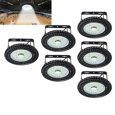 6X 100W LED High Bay Light UFO Cool White Commercial Industrial Lamp Warehouse