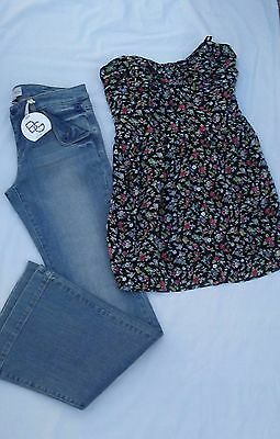 New Bcbg Generation Bootcut Jeans Size 31 Strapless Dress Size L Lot Of 2 Items