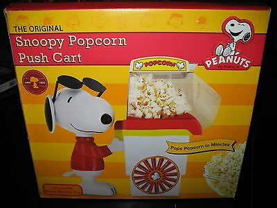 Peanuts Snoopy Popcorn Push Cart Original Includes Butter Tray - New In Box !