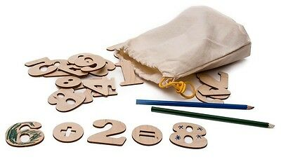 Wooden Mathematical Numbers, Educational Montessori Toys - Wood Toys