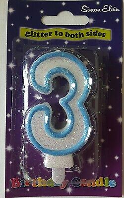 Age 3 Candle Blue Boy Birthday Party