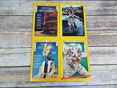 Vintage 1960's through 1980's National Geographic Magazine With Maps & Inserts