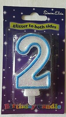 Age 2 Candle Blue Boy Birthday Party