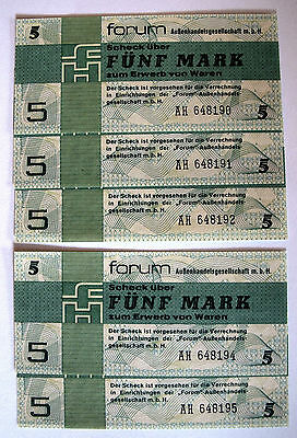 5 x  5 Mark - 1979 - DDR - Forumschecks