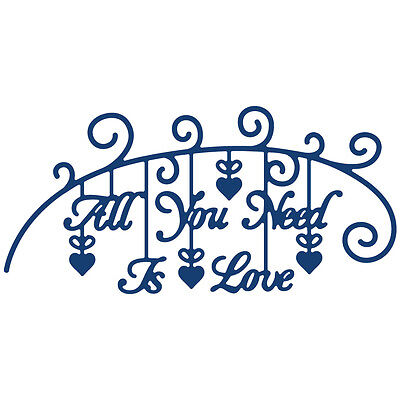 Tattered Lace Metal Die All You Need Is Love 141549