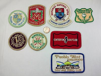 Vintage Lot of 8 Golf Tennis Yacht Country Club Unused Sew On Patch Patches