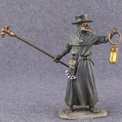 Toy Soldiers Painted PLAGUE DOCTOR Figure 54mm Medieval Civilian 1/32 scale Tin