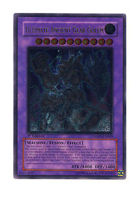 Yugioh Ultimate Ancient Gear Golem LODT-EN043 Unlimited Ultimate Rare Lightly Pl