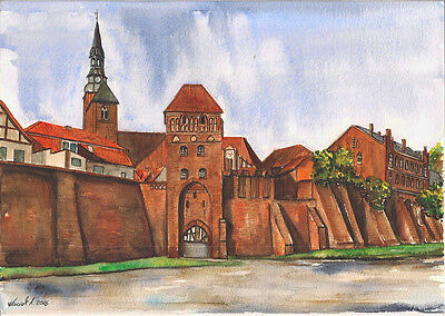 -- TANGERMÜNDE -- Aquarell watercolor 21x 29,7 cm