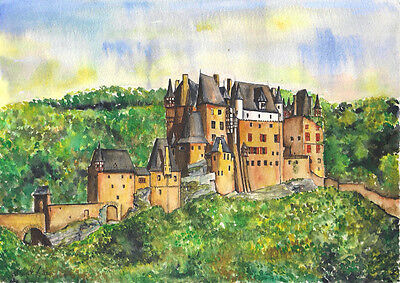 -- BURG ELTZ 1 -- Aquarell watercolor 21x 29,7 cm