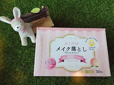 Asian Skincare [Kyowa] PEACH Makeup 💄 Remover Tissues Box 30piece Made In Japan