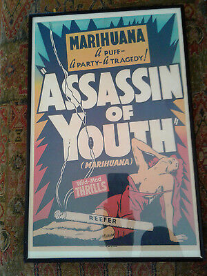 Vintage Movie Poster -Assassin of Youth-circa 1937 Mounted Metal Frame Excllent