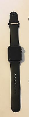 38MM Apple iWatch 7000 Series Aluminum with Black Strap (USED ONCE!)