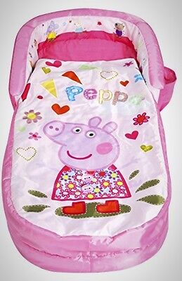 Peppa Pig My First ReadyBed Toddler Airbed Pump Sleeping Bag Air Bed Camping New